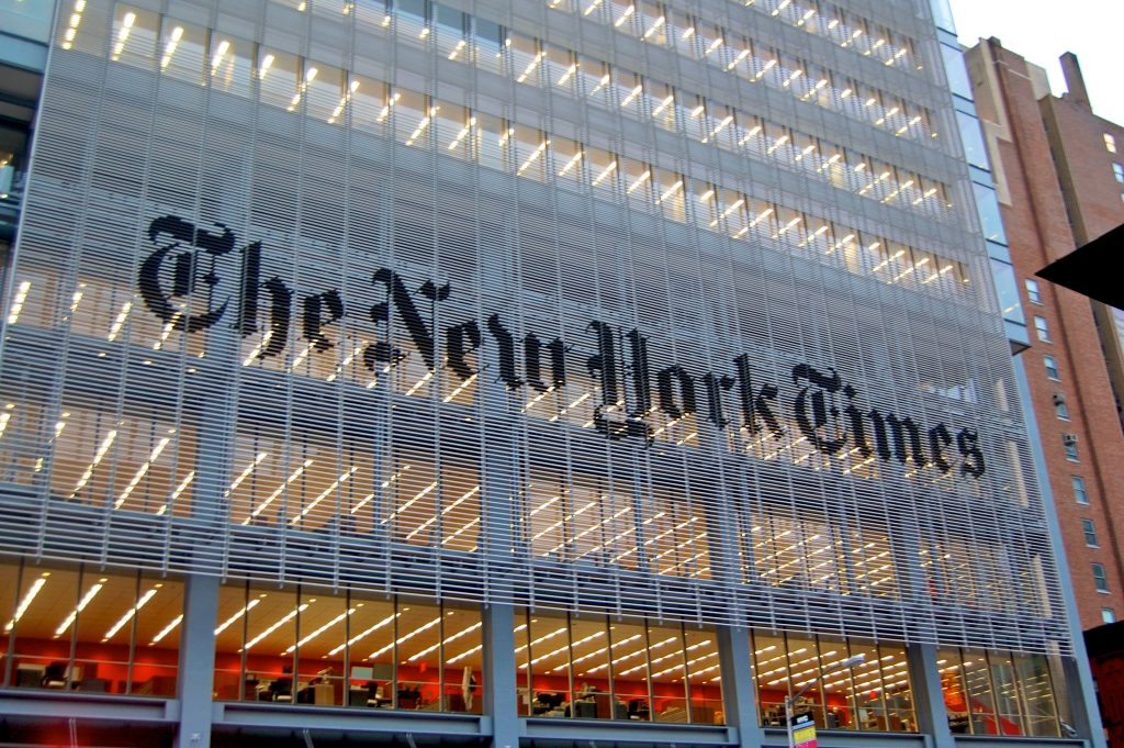 Sede de The New York Times. Fuente: Wikimedia Commons.